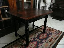 Gyönyörű antik ónémet 8 személyes kinyitható étkezőasztal