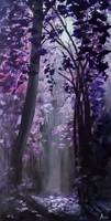 Az erdő színei - Lila  , festmény, tájkép