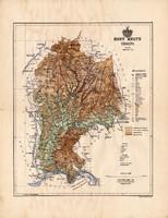 Hont megye térkép 1886, Magyarország, vármegye, atlasz, Kogutowicz Manó, 43 x 56 cm, eredeti