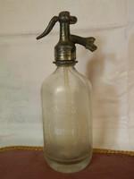 1931 Apátfalvi 1 literes szódásüveg.