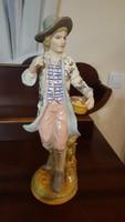 Porcelán férfi szobor nagyméretű