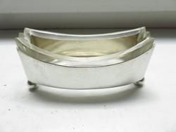 Ezüst fűszertartó üveg betéttel, 800-as Dianás fémjellel