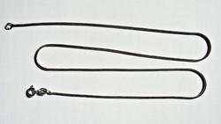 42 cm. hosszú olasz, hengeres bordás nyaklánc