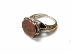 Nyugat-Himalájai köves ezüst gyűrű