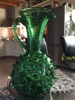 Erdélyi, zöld bütykös üveg