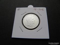 200 (leu) lej ezüst, Románia 1942. 0.835 ag. (18.) RR!