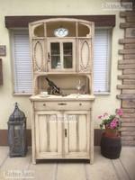 Provence bútor, antikolt Szecessziós tálaló szekrény.