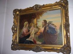 Szentkép olajfestmény