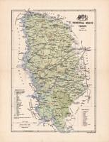 Torontál megye térkép 1885, Magyarország, vármegye, atlasz, Kogutowicz Manó, 43 x 56 cm, eredeti