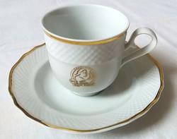 Hollóház Exclusive Douwe Egberts mokkás csésze és alj jelzett hibátlan