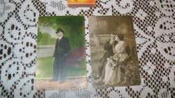 Régi képeslap - két darab