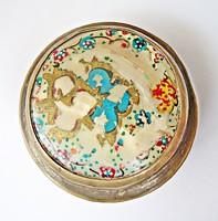 Keleti gyöngyházas kézzel festett szelence