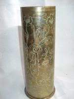 Régi töltényhüvely váza