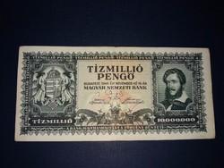 Tizmillió  Pengő 1945-ös bankjegy!