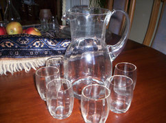 RETRO  Boros készlet /kancsó+ 6 pohár/