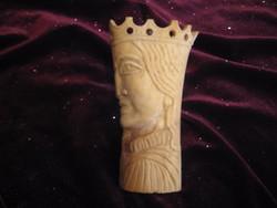 Csont faragás , királynő ábrázolás  13x70  mm