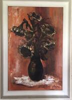 Hajós Hollanda Éva festmény 50 x 70 cm - JELZETT
