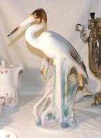 Gázló madár hatalmas méretű porcelán 40 cm magas