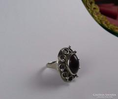 Jáspis köves ezüst gyűrű