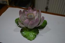 Herendi virágos gyertyatartó