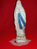 Régi német Bavaria  óriás porcelán figura oltárszobor imádkozó Szent Teréz 34 x 10 cm