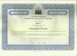 Kárpótlási jegy-Tőrzsrészvény-1994