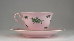 0N913 Antik ROSENTHAL rózsaszín kávéscsésze