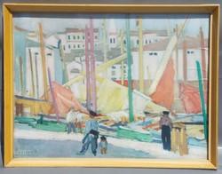 Régi Vaszary Festmény nyomat a 60-as évekből.