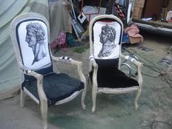 Antik, Fotel, 2 darab