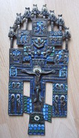 Antik bronz ikon 19sz/bol