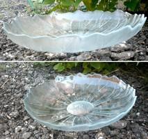Üveg kínáló tál, hibátlan 29 cm