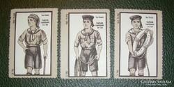 Régi litho levélzárók angol cserkész sea scout