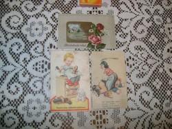 Régi képeslap - három darab