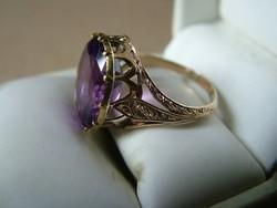 Ametiszt köves antik arany gyűrű