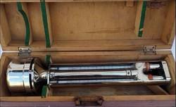 Full réz hajós műszer dobozában Mahart - Veb Junkalor Dessau páratartalom mérő ?