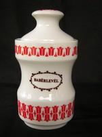 Alföldi porcelán tulipános fűszertartó babérlevél