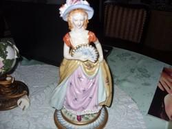 38cm Meisseni kalapos hölgy eladó
