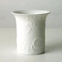 Kaiser West Germany porcelán váza virágos domborulatokkal
