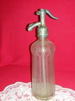 Antik szódásüveg Süss és Friedman BUDAPEST( 99% ónbetét ) 1914 / RAPPAPORT W.M. PÁPA  feliratokkal
