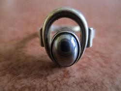 Hematit köves ezüst gyűrű