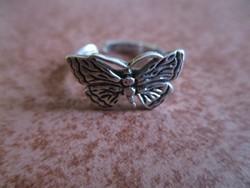 Lepke ezüst gyűrű