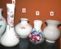 Hasas kerámia váza, **No.7**  Dúsan festett mázas 8,5 cm