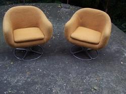 2 db retro forgó kagyló fotel eladó