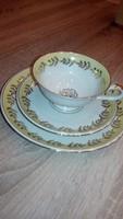 Tökéletes, különleges Bavaria porcelán teás csésze, tányér