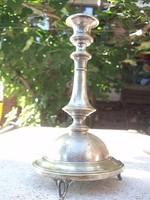 Ezüstözött antik gyertyatartó szép ötvösmunka-remek forma