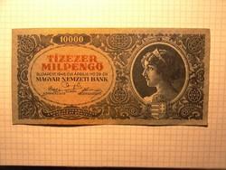 Szép 10 ezer milpengő 1946 !!