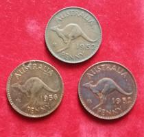 Ausztrália 3 x 1 penny.