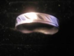 N3 vésett mintás ezüstözött gyűrű ritkaság