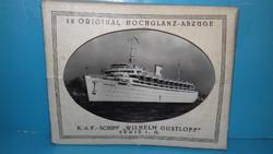 WILHELM GUSTLOFF hajó -  12 db eredeti fekete-fehér papírkép tokjában