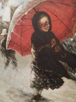 Csókfalvy Raffay Sándor  olaj festménye